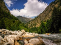 Beautiful view of Himalayan mountains, Kasol, Parvati valley, Himachal Pradesh, India Royalty Free Stock Photo