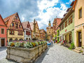 Beautiful view of the historic town of rothenburg ob der tauber franconia bavaria germany Royalty Free Stock Image