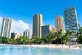 Beautiful view of honolulu hawaii united states Stock Photo