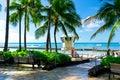 Beautiful view of honolulu hawaii united states Stock Images