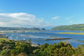Beautiful view of knysna town and lagoon south africa Stock Photo