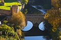 Beautiful view of Luxembourg city bridge Stock Photo