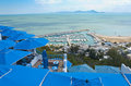 Beautiful view of the mediterranean sea from sidi bou said tunisia Royalty Free Stock Photos