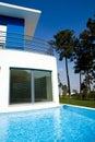 Beautiful view of modern holiday villa