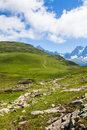 Beautiful view of the mont blanc in the french alps a Royalty Free Stock Photography