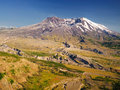 Beautiful view of mount saint helen Stock Image