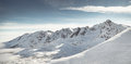 Beautiful view of mountains in winter Tatra Royalty Free Stock Photo
