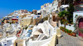 Beautiful view of oia in santorini at noon Stock Photo