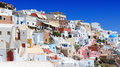 Beautiful view of oia in santorini at noon Royalty Free Stock Photography