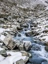 Mountain river with small waterfalls. Royalty Free Stock Photo