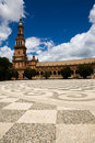 Beautiful view of Plaza de Espana in Seville Stock Photos