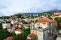 Beautiful view of popular resort town of Herceg Novi from wall of Forte Mare, Montenegro