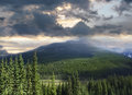 Beautiful view of the Rocky Mountains in Alberta Royalty Free Stock Photography