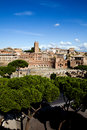 Beautiful view of the Rome centre Royalty Free Stock Photos