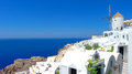 Beautiful view of santorini at noon Royalty Free Stock Photography