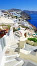 Beautiful view of the sea and houses on santorini island greece Stock Photography