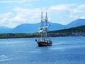 Beautiful view with a ship in oban scotland Stock Photos