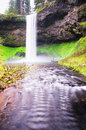 The Beautiful View Of south Silver Falls Royalty Free Stock Photo