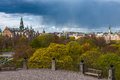 Beautiful view of stockhol sweden stockholm against the background a stormy sky Stock Image