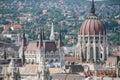 Beautiful view of summer Budapest. Hungary. Panorama. Royalty Free Stock Photo