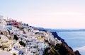 Beautiful View Thera Santorini Oia Island With Volcano And Ships Greece Royalty Free Stock Photo