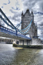 Beautiful view of the tower bridge of london in hdr Stock Image