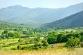Beautiful view of the tuscan countryside with hills and meadow tuscany italy Royalty Free Stock Image