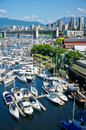 Beautiful view of vancouver british columbia canada Stock Images