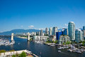 Beautiful view of vancouver british columbia canada Royalty Free Stock Photos