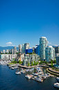 Beautiful view of vancouver british columbia canada Stock Photos