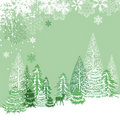 Beautiful view of winter forest Stock Photography