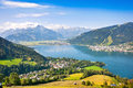 Beautiful view of Zell am See, Austria Stock Photography