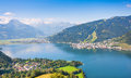 Beautiful view of zell am see austria the city with zeller lake in salzburg Royalty Free Stock Photography