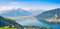 Beautiful view of zell am see austria the city with zeller lake in salzburg Royalty Free Stock Image