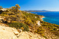 Beautiful views of the coast of island of Rhodes Greece Royalty Free Stock Photo