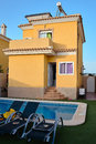 Beautiful villa with pool in Spain Royalty Free Stock Photo