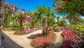Beautiful Villa Rufolo gardens in Ravello at Amalfi Coast, Italy