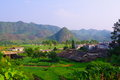 Beautiful village of southwest china Stock Photography