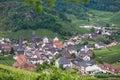 Beautiful village with wine yards Royalty Free Stock Photo