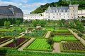 Beautiful Villandry castle, France Royalty Free Stock Photo