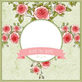 Beautiful vintage background for the wedding with roses and space text Royalty Free Stock Photo