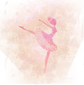 Beautiful vintage ballerina Royalty Free Stock Photo