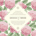 Beautiful vintage floral invitation card. Vector illustration