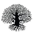 Beautiful vintage hand drawn tree of life this is file eps format Stock Images