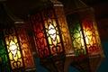 Beautiful vintage lantern hanging, ramadan light