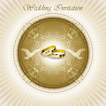 Beautiful vintage wedding invitation card Royalty Free Stock Photo