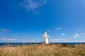 Beautiful waipapa point lighthouse the catlins nz beautifully restored heritage building of on coast on south island of new Royalty Free Stock Photo