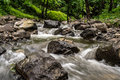Beautiful water stream a from mountain in central india Royalty Free Stock Images