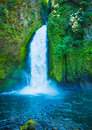 Beautiful waterfall amazing natural large Stock Photography