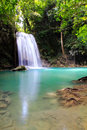 Beautiful waterfall at erawan national park in kanchanaburi thailand Stock Photography